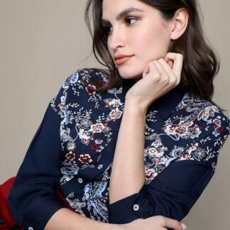 Блузка из модала с платочным принтом O`Stin