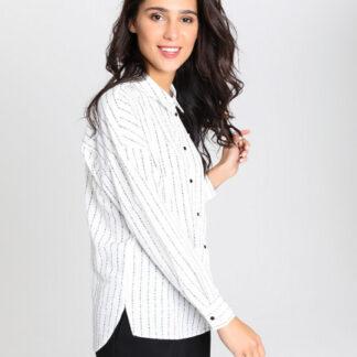 Блузка со шрифтовыми полосами O`Stin