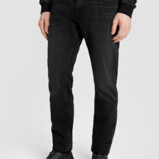 Чёрные зауженные джинсы с потёртостями O`Stin