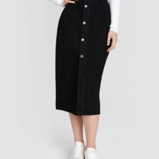 Денимная юбка с пуговицами O`Stin