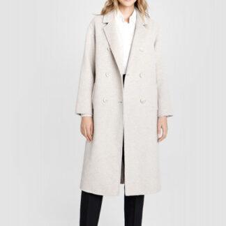 Длинное шерстяное пальто ручной