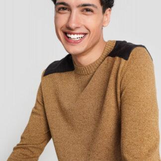 Джемпер тонкой вязки с контрастными плечами O`Stin