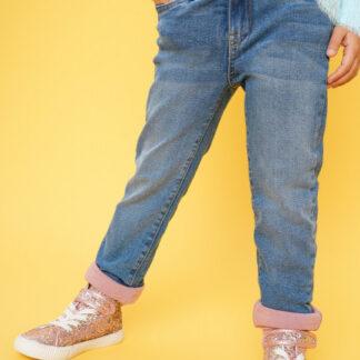 Джинсы на трикотажной подкладке для девочек O`Stin