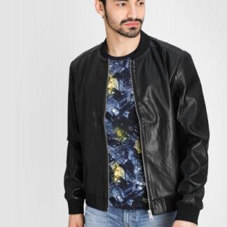 Куртка-бомбер из перфорированной искусственной кожи O`Stin