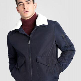 Куртка-бомбер с воротником из искусственного меха O`Stin