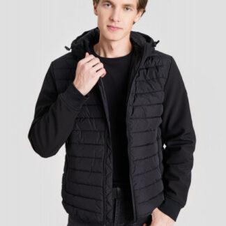 Куртка с капюшоном и комбинацией тканей O`Stin