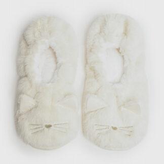 Мягкие тапочки с мордочкой кошки O`Stin