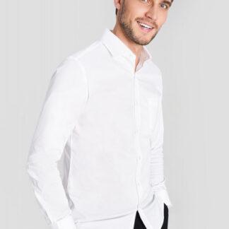 Однотонная рубашка O`Stin
