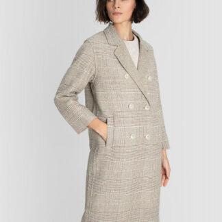 Пальто из ткани с добавлением