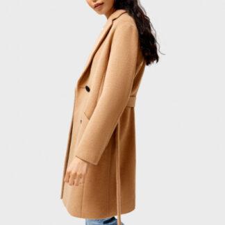 Пальто с поясом O`Stin