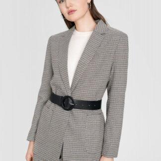 Пиджак в «гусиную лапку» с накладными карманами O`Stin