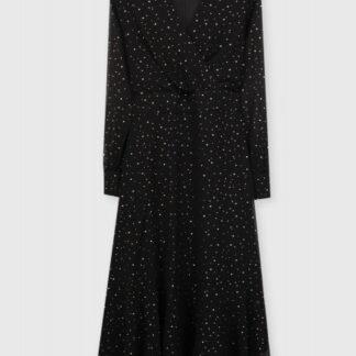 Платье А-силуэта из шифона с принтом «золотые точки» O`Stin