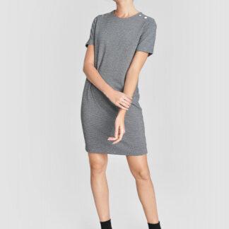 Платье из джерси с декором из пуговиц O`Stin