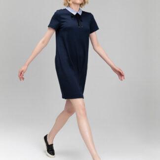 Платье из интерлока с рукавами из текстиля O`Stin