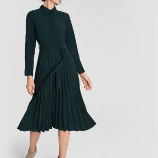 Платье из вискозы с плиссированной юбкой O`Stin