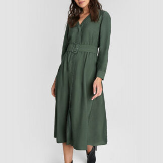 Платье из жатой вискозы O`Stin