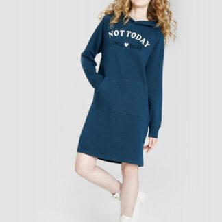 Платье миди с капюшоном O`Stin