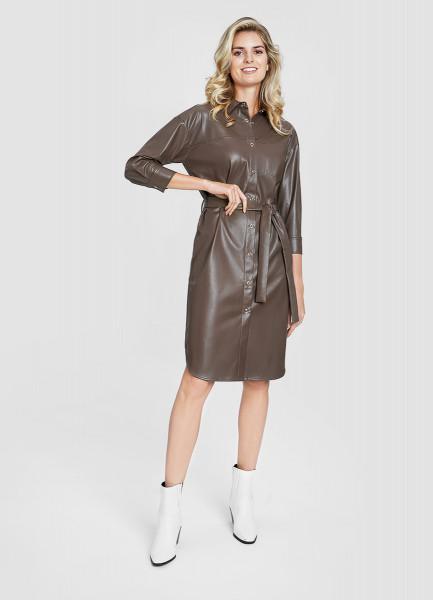 Платье-рубашка с поясом O`Stin