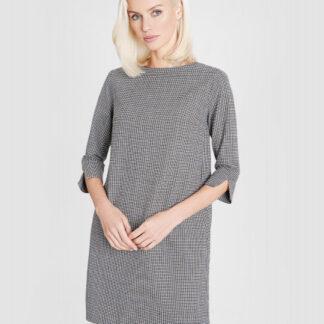 Платье в клетку с добавлением шерсти O`Stin