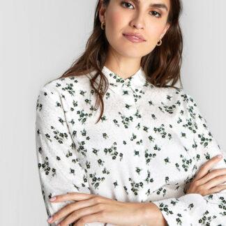 Принтованная блузка из вискозного жаккарда O`Stin