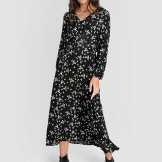 Принтованное платье из вискозного жаккарда O`Stin