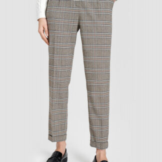 Прямые клетчатые брюки с подворотами O`Stin
