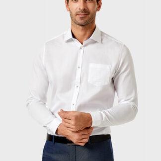 Рубашка из однотонной жаккардовой ткани O`Stin