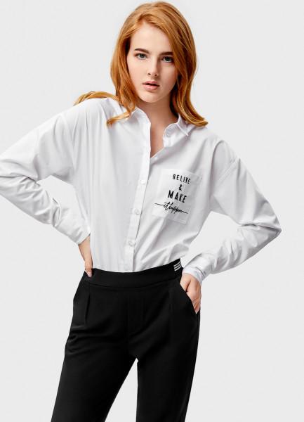 Рубашка свободного силуэта O`Stin