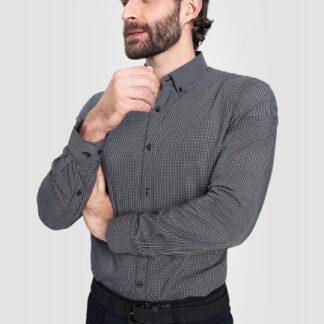 Рубашка в графичную клетку O`Stin