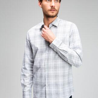 Рубашка в монохромную клетку O`Stin
