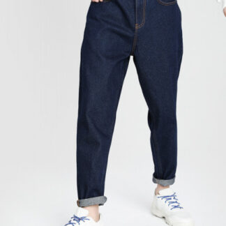 Широкие синие джинсы O`Stin