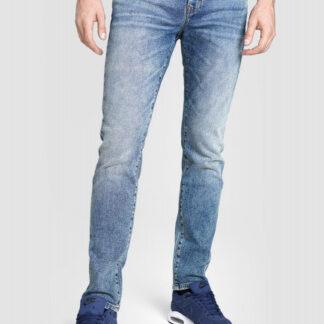 Синие зауженные винтажные джинсы O`Stin