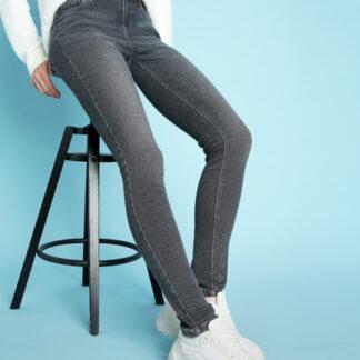 Светло-серые суперузкие джинсы O`Stin