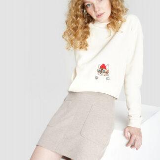 Трикотажная юбка с накладными карманами O`Stin