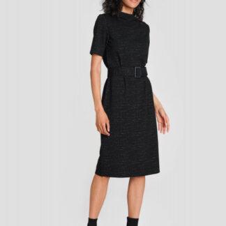 Трикотажное платье с поясом O`Stin