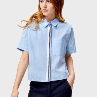 Укороченная рубашка с декоративной тесьмой O`Stin