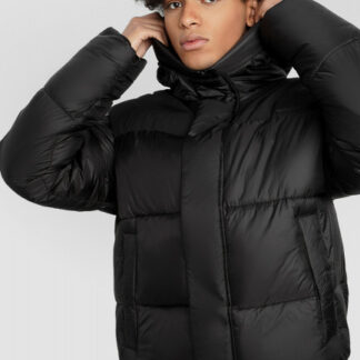 Утеплённая куртка-бомбер скапюшоном O`Stin