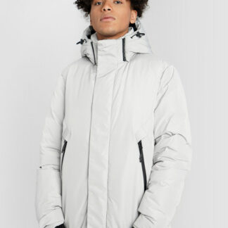 Утеплённая куртка с капюшоном и технологичными деталями O`Stin