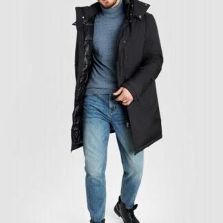 Утеплённая удлинённая куртка с капюшоном O`Stin