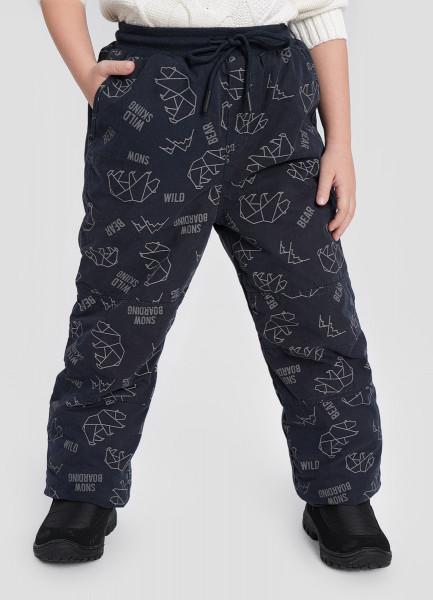 Утеплённые брюки для мальчиков O`Stin