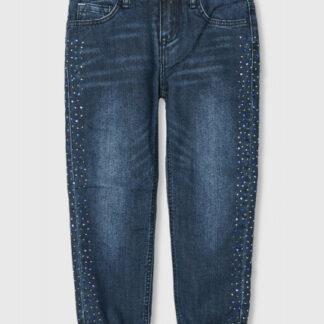 Утеплённые джинсы на флисовой подкладке для девочек O`Stin