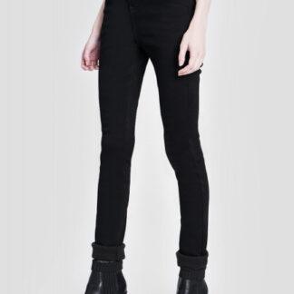 Утеплённые узкие джинсы с высокой