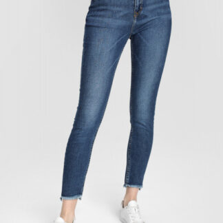 Узкие джинсы с необработанным низом O`Stin