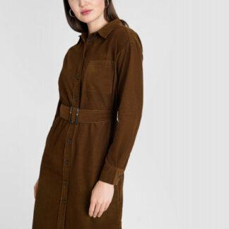Вельветовое платье-рубашка O`Stin