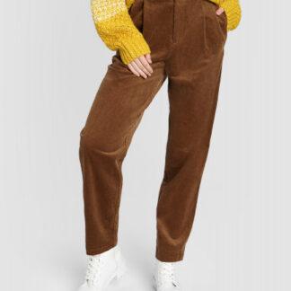Вельветовые брюки О-силуэта O`Stin