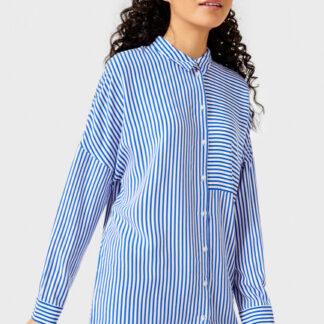 Вискозная рубашка в полоску O`Stin