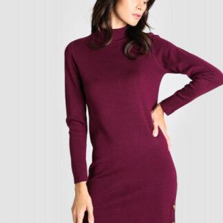 Вязаное платье с воротником-стойкой O`Stin