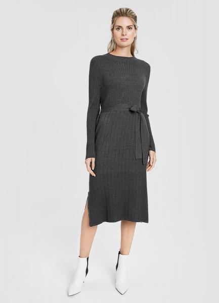 Вязаное платье в рубчик O`Stin