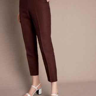 Зауженные брюки изо льна O`Stin