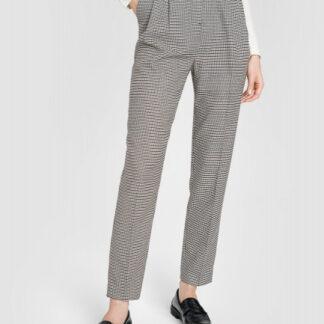 Зауженные брюки в «гусиную лапку» с поясом O`Stin